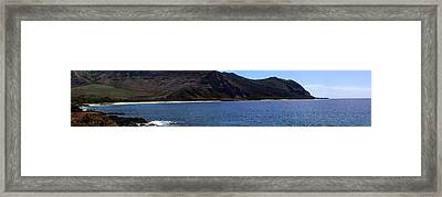 Framed Print featuring the photograph West Oahu Panorama by Rob Tullis