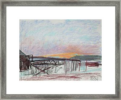 West Oakland Skyline At Sunset Framed Print by Asha Carolyn Young
