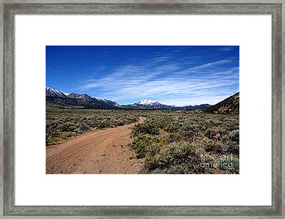 Framed Print featuring the photograph West Of The Sierra Nevada  by Thomas Bomstad