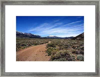 West Of The Sierra Nevada  Framed Print
