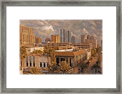 West Palm Beach Florida Framed Print by Debra and Dave Vanderlaan