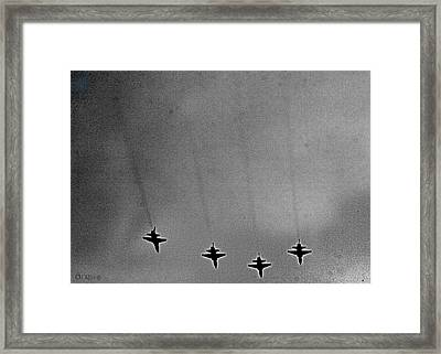 West Point Jets Framed Print by Lorella  Schoales
