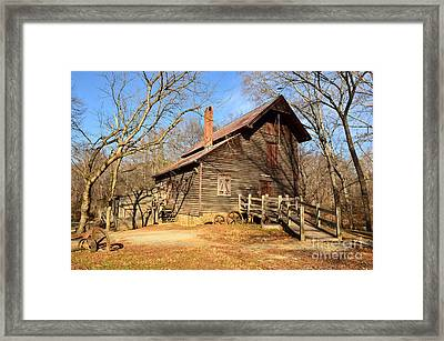 Framed Print featuring the photograph West Point On The Eno by Bob Sample
