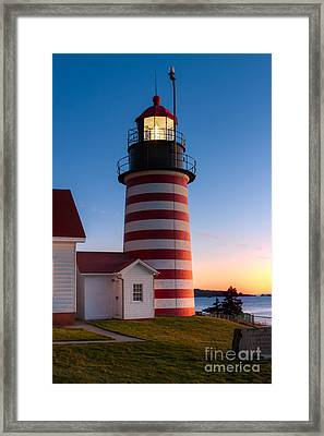 West Quoddy Head Light At Dawn I Framed Print by Clarence Holmes