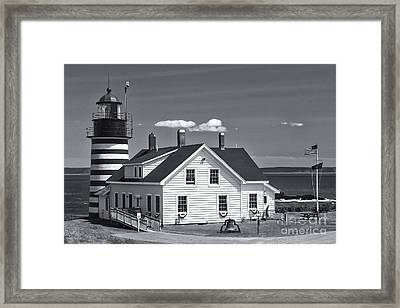 West Quoddy Head Light II Framed Print by Clarence Holmes