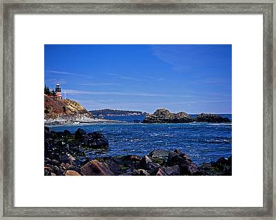 West Quoddy Head Lighthouse Framed Print by Skip Willits