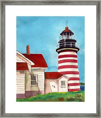 West Quoddy Light House Framed Print by Nan Wright