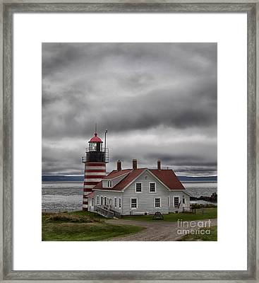 West Quoddy Lighthouse Framed Print by Jerry Fornarotto