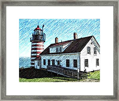 West Quoddy Lighthouse Lubec Maine Framed Print by Art  MacKay