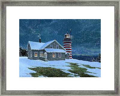 West Quoddy Lighthouse Framed Print by Tom Wooldridge