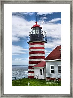 West Quoddy Lighthouse_4226 Framed Print