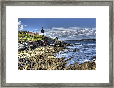 Framed Print featuring the photograph West Quoddy Lubec Maine Lighthouse by Shawn Everhart