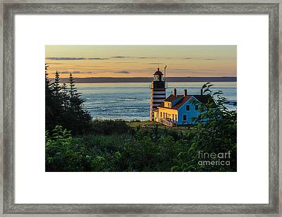 West Quoddy Sunrise Framed Print by Joe Faragalli