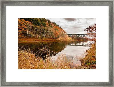 West River At Interstate 91 Framed Print by Jeremy Farnsworth