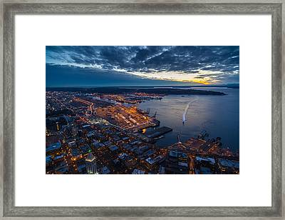 West Seattle Water Taxi Framed Print