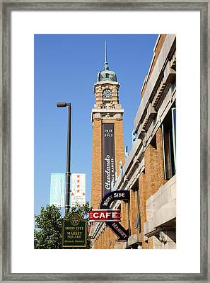West Side Market Framed Print