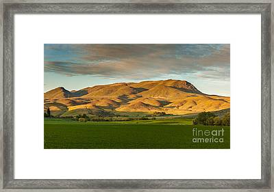 West Side Of Squaw Butte Framed Print by Robert Bales