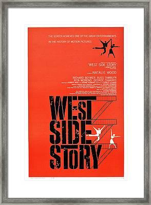 West Side Story, Poster Art, 1961 Framed Print by Everett