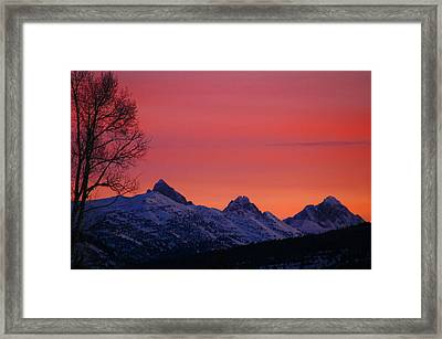 West Side Teton Sunrise Framed Print by Raymond Salani III