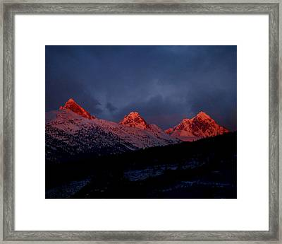 West Side Teton Sunset Framed Print by Raymond Salani III