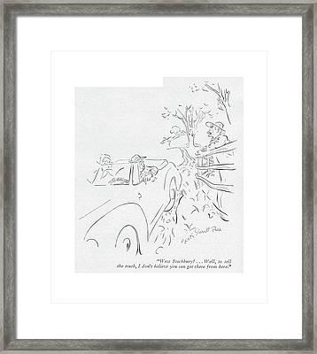 West Stockbury? . . . Well Framed Print by Garrett Price