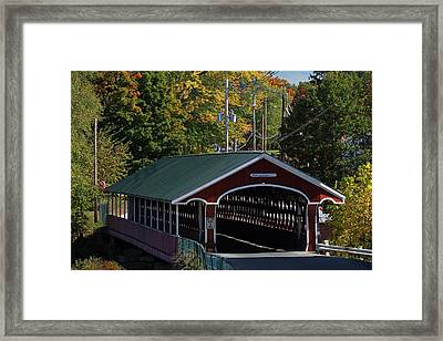 West Swanzey Thompson Covered Bridge Framed Print by Juergen Roth