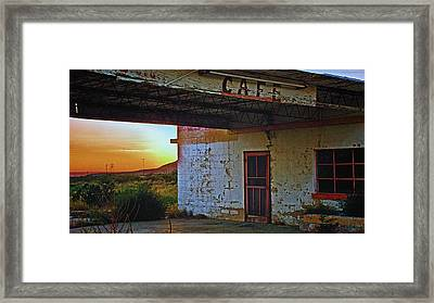 West Texas Cafe Framed Print by Brian Kerls