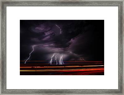 West Texas Lightning Storm Framed Print