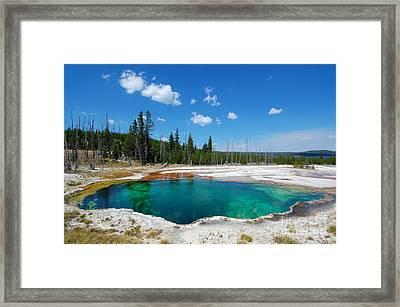 West Thumb Abyss Pool Framed Print by Debra Thompson