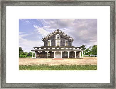 West Tisbury Grange Framed Print by David Stone