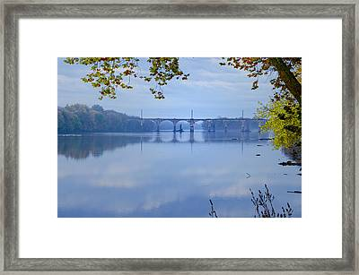 West Trenton Railroad Bridge Framed Print by Bill Cannon