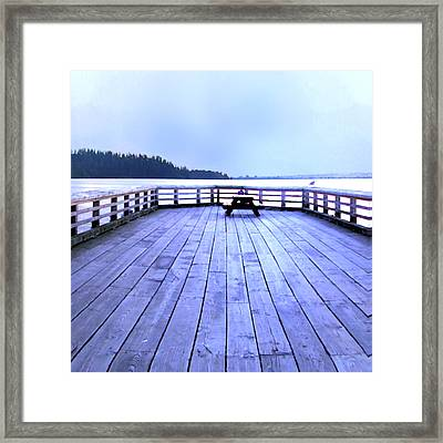 West Vancouver Dundarave Pier Centre Framed Print by Patricia Keith