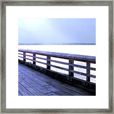 West Vancouver Dundarave Pier Right Framed Print by Patricia Keith