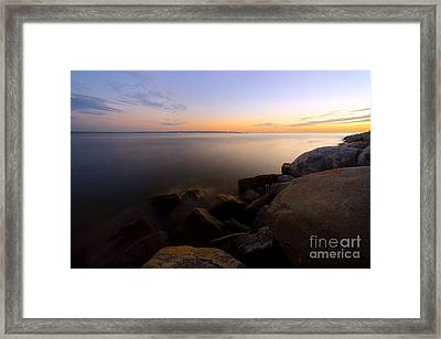 West Vancouver Sunset Framed Print by Terry Elniski