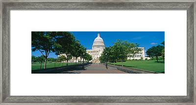 West View Of Us Capitol Building Framed Print