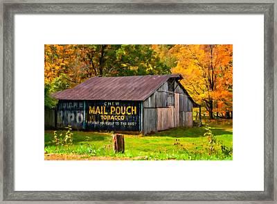 West Virginia Barn Oil Framed Print by Steve Harrington