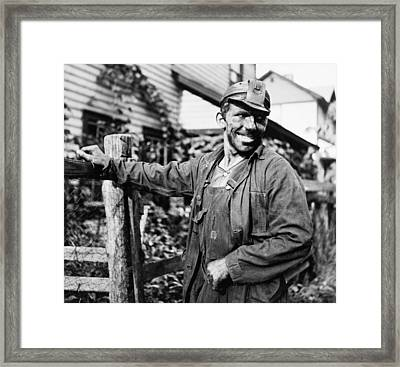 West Virginia Coal Miner 1937 Framed Print by Mountain Dreams