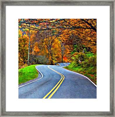 West Virginia Curves 2 Oil Framed Print