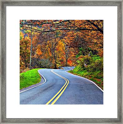 West Virginia Curves 2 Framed Print