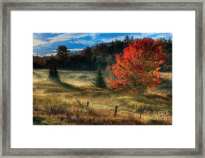 West Virginia Fall Sunrise I Framed Print by Dan Carmichael