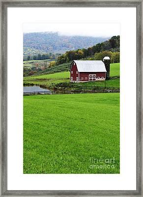 West Virginia Farm In Fall Framed Print