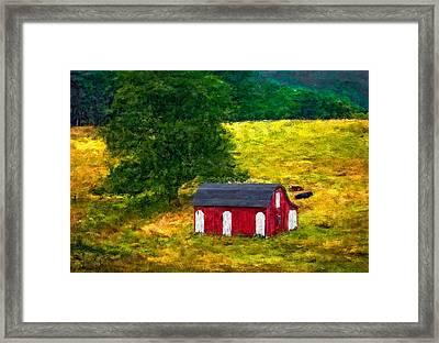 West Virginia Impasto Framed Print by Steve Harrington