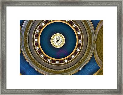 West Virginia State Capital Dome Hdr Framed Print
