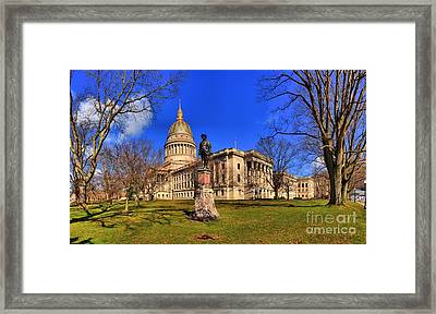 West Virginia State Capitol Building Framed Print by Adam Jewell