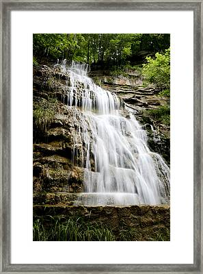 Framed Print featuring the photograph West Virginia Waterfall by Robert Camp