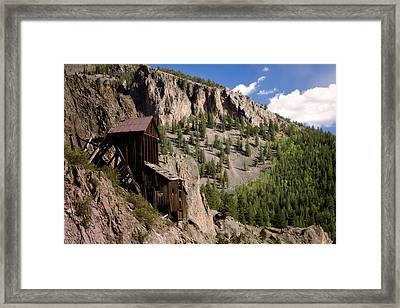 West Willow Creek Mine Framed Print by Lana Trussell