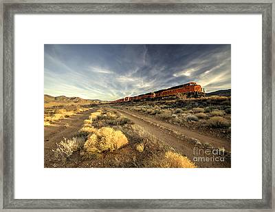 Westbound Freight  Framed Print by Rob Hawkins