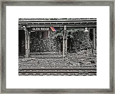 Westbound Track At Glen Ridge Station Framed Print
