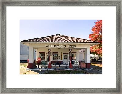 Westbrook's Filling Station Framed Print