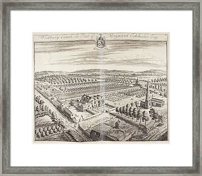 Westbury Court House And Gardens Framed Print